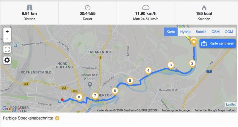 nur ein paar Kilometer