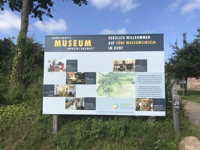 Überblick zum Landschaftsmuseum Unewatt