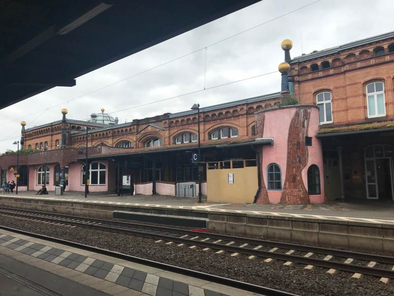 Blick vom Bahnsteig