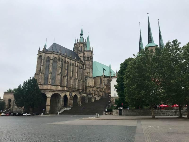 Der Erfurter Dom, noch (?) ohne Freilichtbühne
