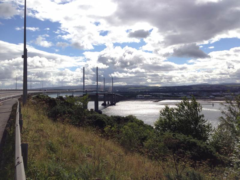 Auf dem Weg zur Kessock Bridge