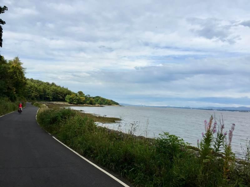 Fahrrad-Highway an der Küste