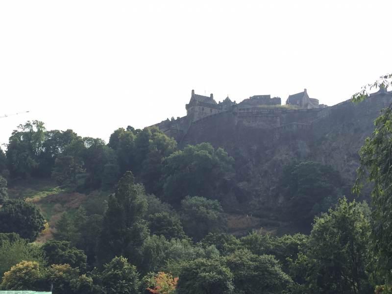 In Edinburgh, Blick auf das Castle