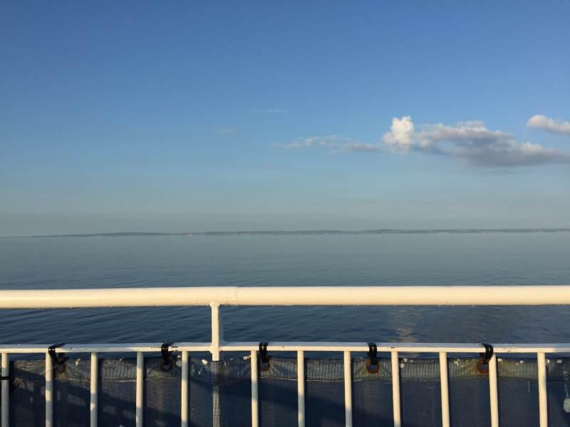Die englische Küste kommt in Sicht.
