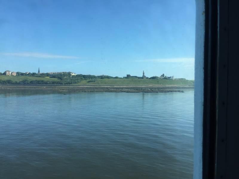 Blick auf die Priory in Tynemouth