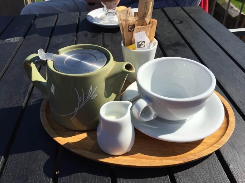 Kaffeepause an der Marina Kilsyth