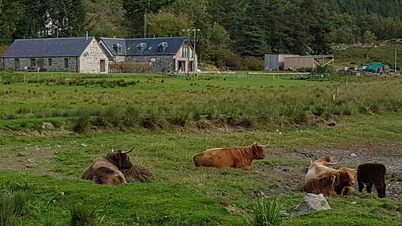 Blick auf die zugehörige Farm