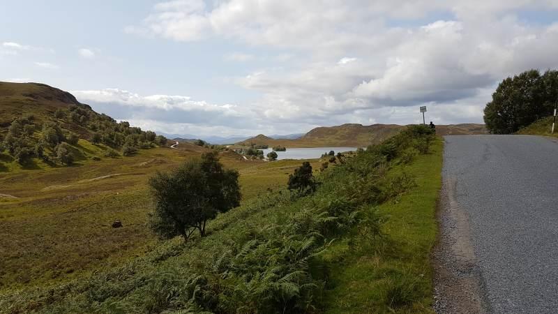 Abfahrt zum Loch Tarff