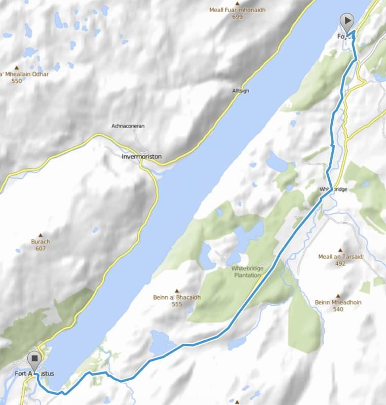 21 km mit gut 400 Höhenmetern auf den ersten 10 km, uff ...