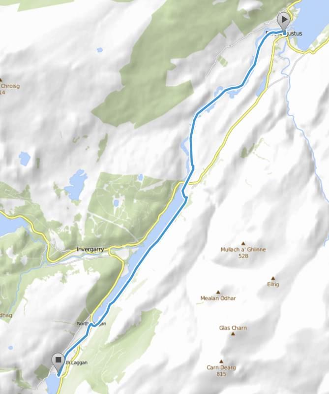 18 km bis zu den Laggan Locks