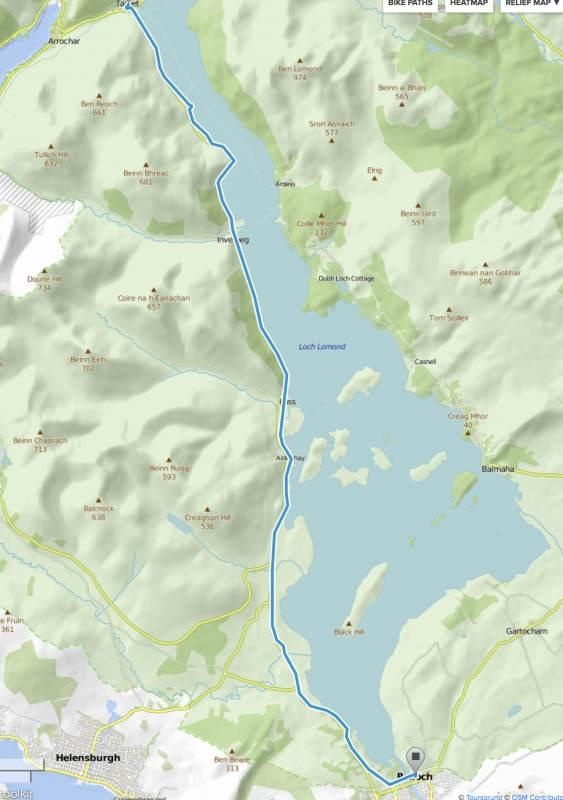 Entspannte Route, 27 km am Loch Lomond