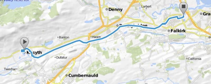 24 km bis Falkirk