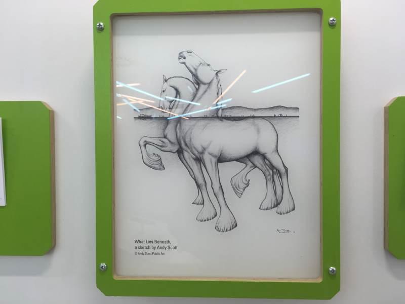 """So hat der Künstler die Legende """"transponiert""""."""