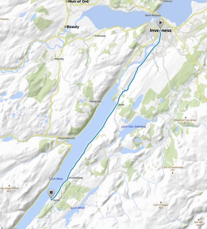33 km mit 370 gefahrenen Höhenmetern