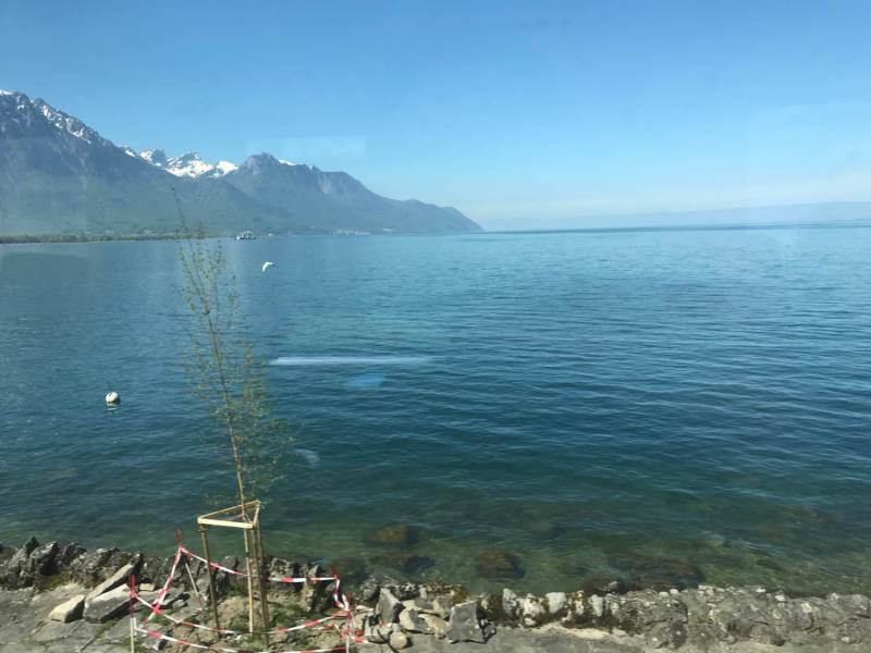 Heute geht es vorbei am Genfer See.