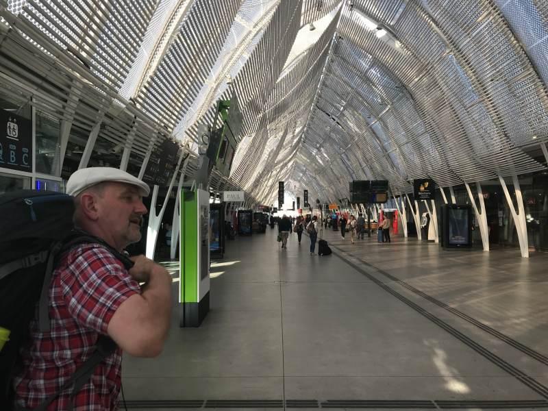 Schicker Bahnhof in Montpellier