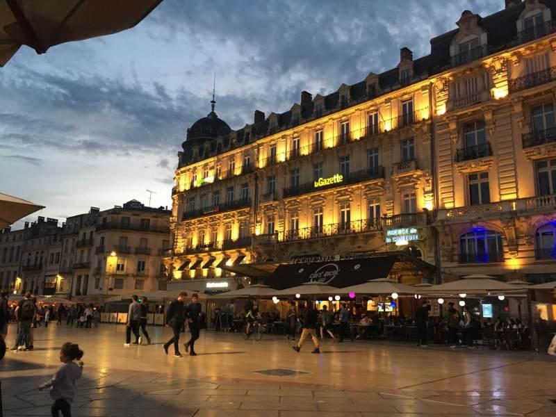 Abendstimmung in Montpellier