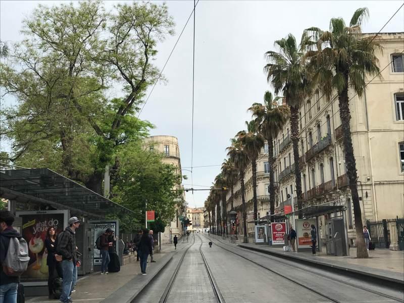 Friedliches Montpellier am Morgen