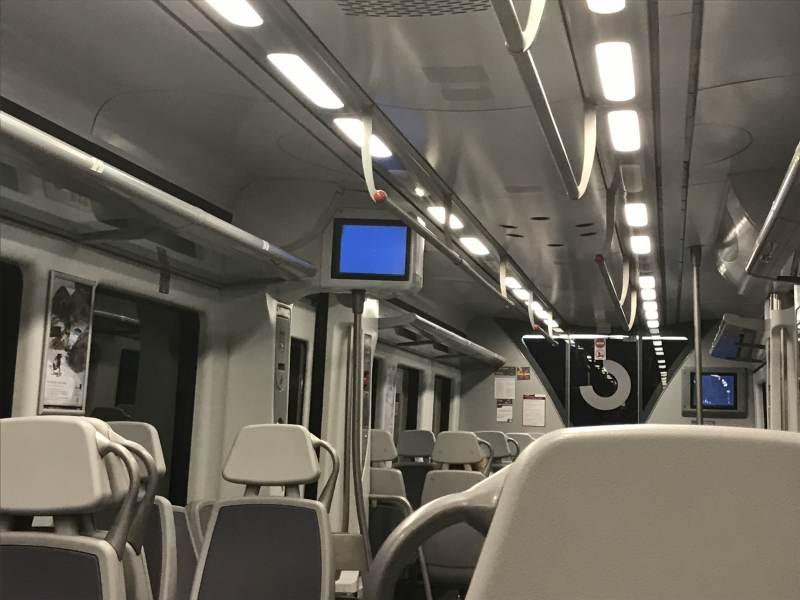 """""""Bluescreen"""" können Regionalzüge in Spanien auch."""