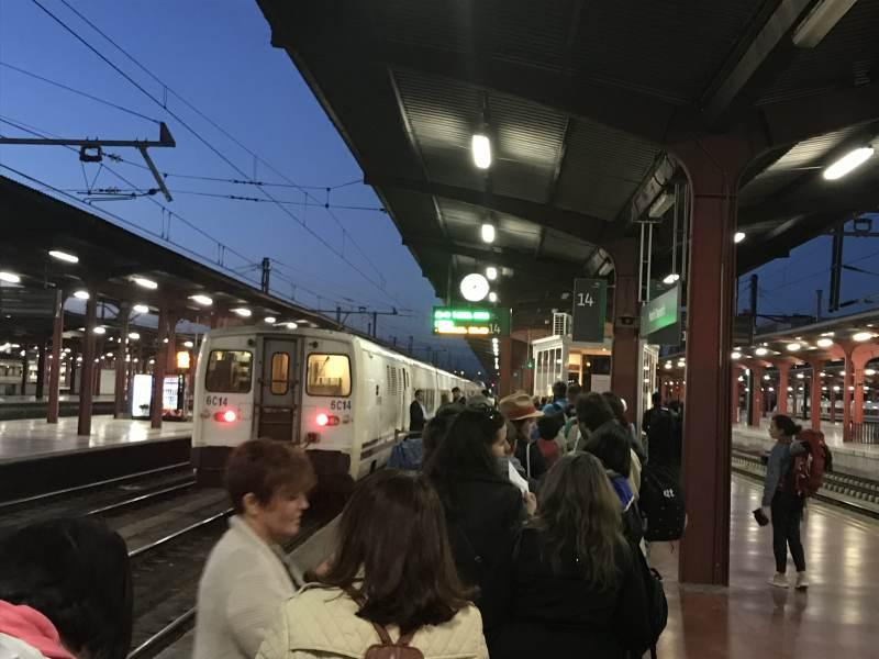 Am Bahnhof Chamartin wartet der Nachtzug.