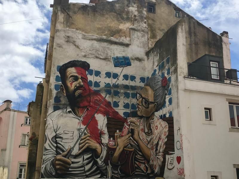 Graffitikunst am Bau