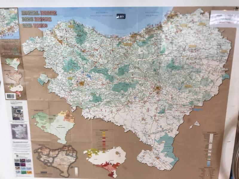 Das herzförmige Baskenland in Spanien und Frankreich
