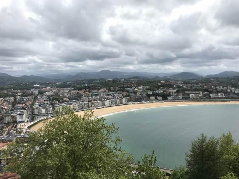 Blick auf die Bucht La Concha vom Monte Urgull aus