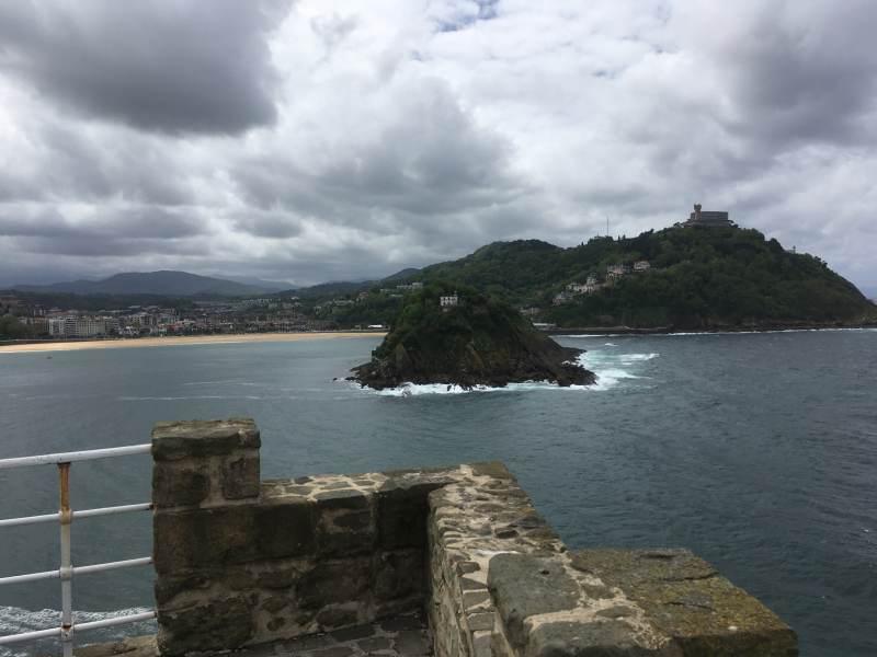 Blick vom Monte Urgull rüber zum Monte Igueldo