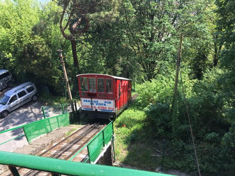 Die Zugseilbahn zum Monte Igueldo