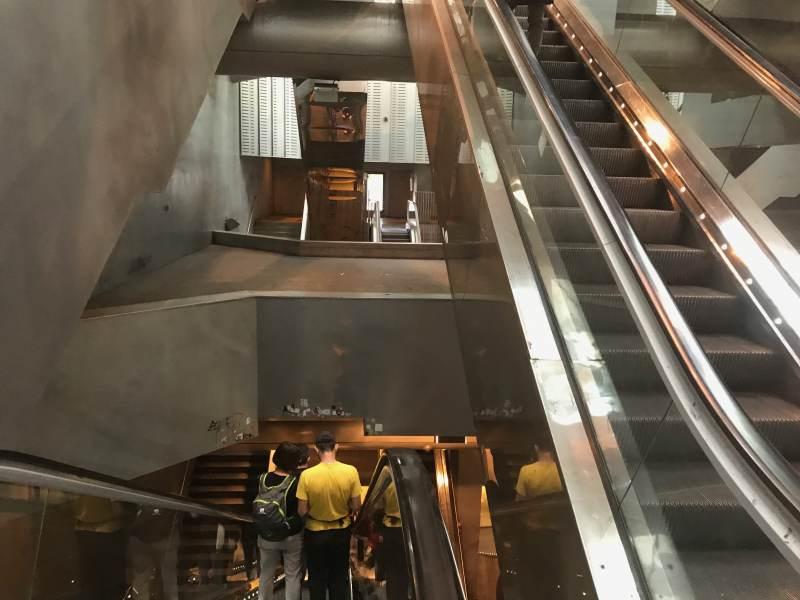 Erstmal runter zur U-Bahn