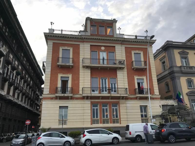Unser Hotel Miramare, der Name geht in Ordnung.