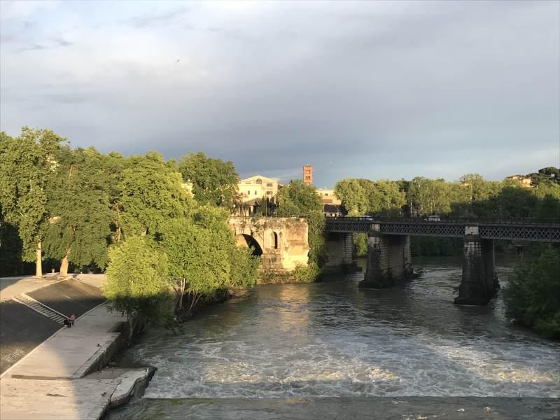 Blick von der Ponte Fabricio