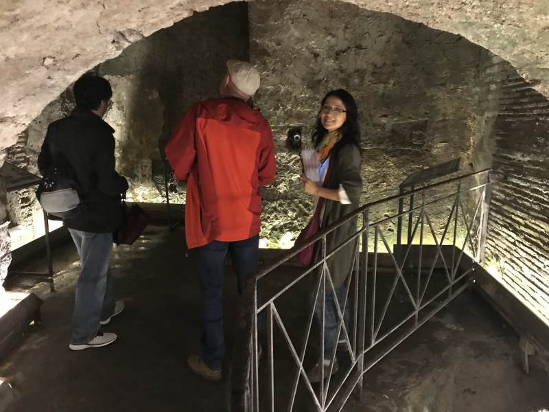 Erneutes Abtauchen in Überreste eines römischen Theaters, sehr beeindruckend!