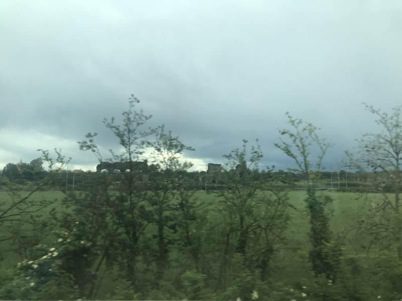Fahrt nach Rom, ausnahmsweise regnerisch