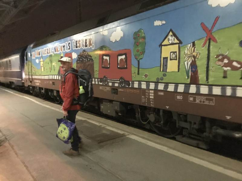 Hübsch dekoriert, der Nachtzug Richtung Rumänien