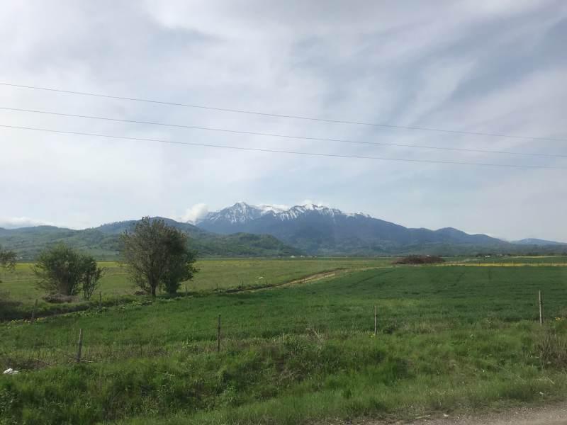 Die Berge sind nicht weit.