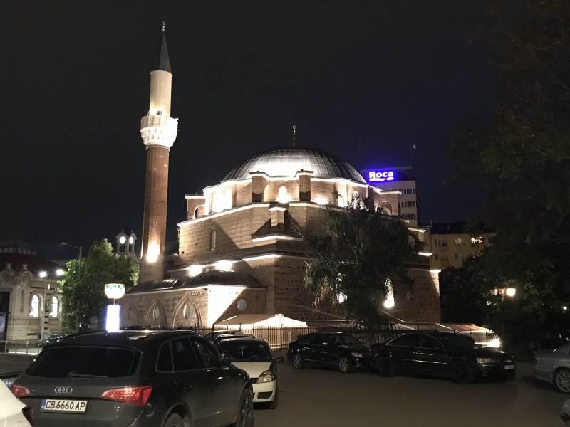und auf die große Banja-Baschi-Moschee