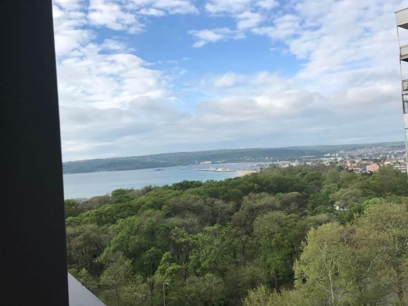 Ein letzter Blick aus dem Hotel aufs Schwarze Meer