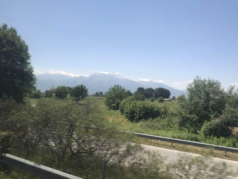 Das Kerkini-Gebirge am Horizont