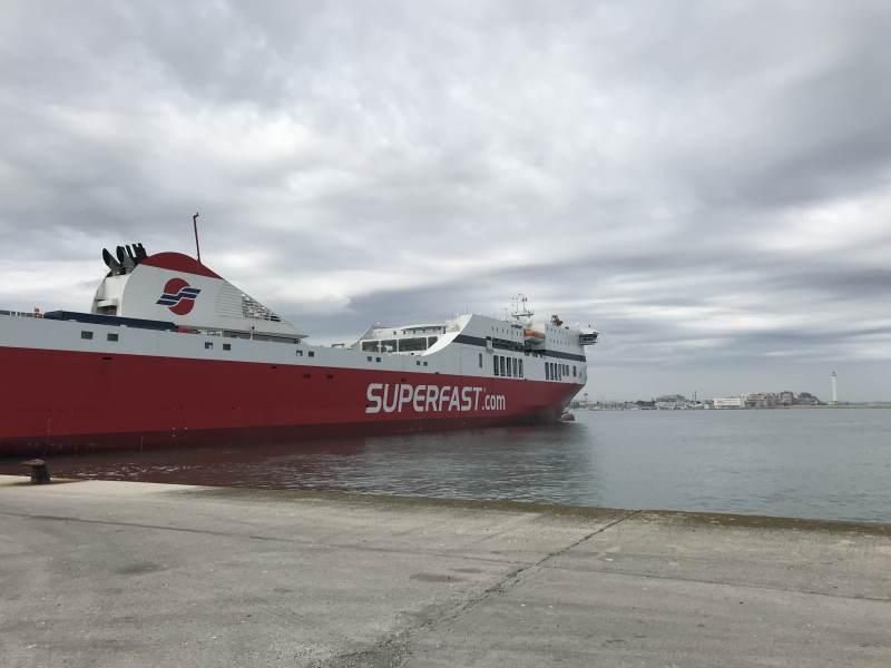 Letzter Blick auf unser Schiff