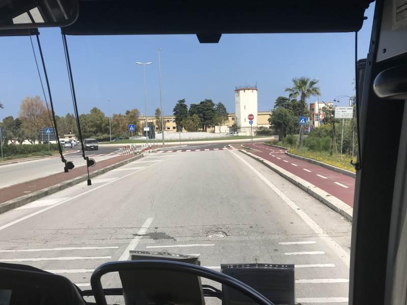 Frontausblick-Premiere auf der Fahrt nach Matera